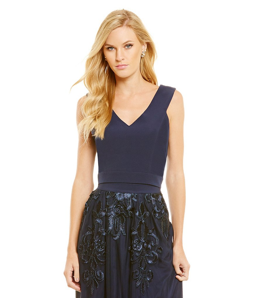 Belle Badgley Mischka Tami V-Neck Top