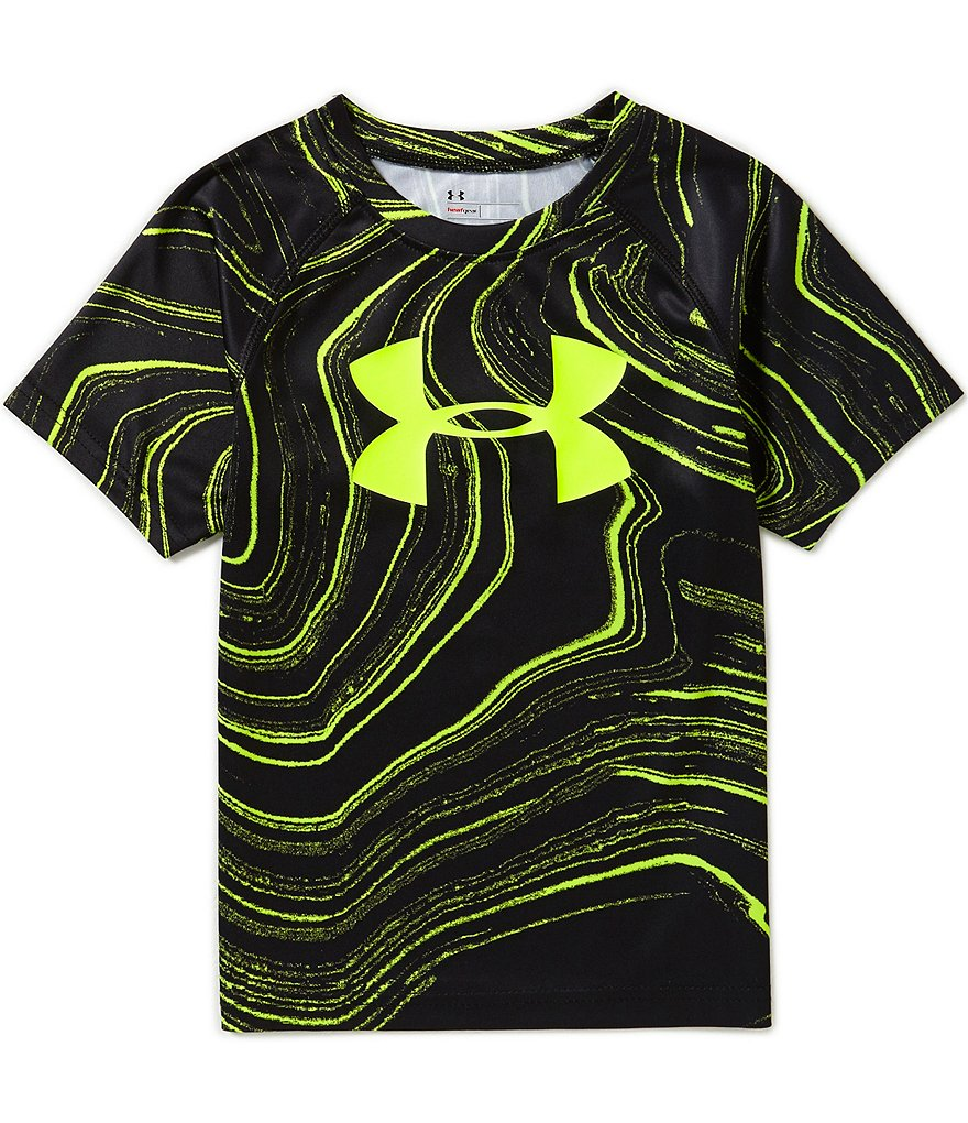 Under Armour Little Boys 2T-7 Marbled Big Logo Tee