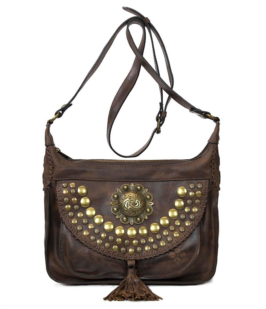 Patricia Nash Medallion Distressed Collection Camila Square Hobo Bag