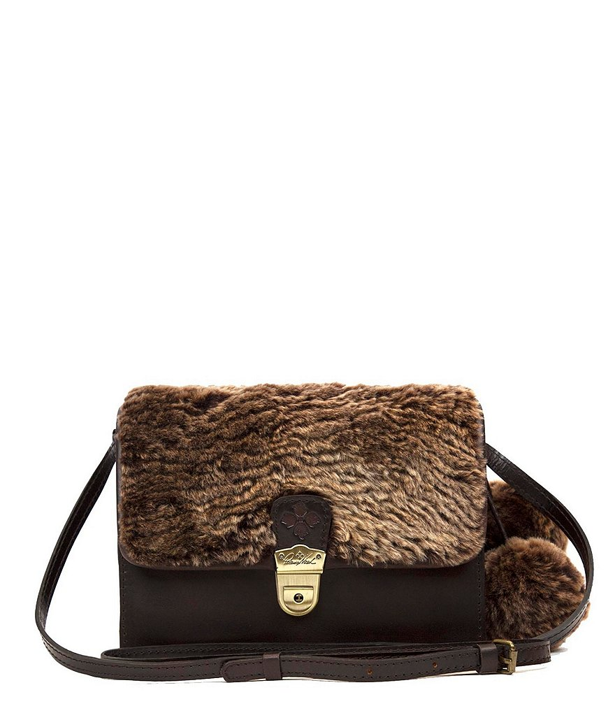 Patricia Nash Laser Cut Sherpa Collection Lanza Cross-Body Bag
