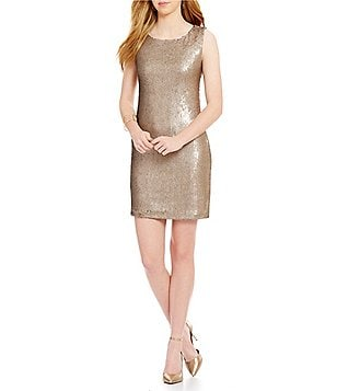 BB Dakota Penley Sequin Sleeveless Shift Dress