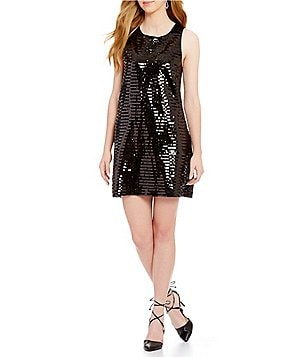 BB Dakota Norland Scoop Neck Sleeveless Sequin Shift Dress