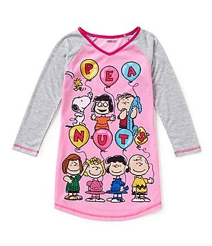 Komar Kids Little/Big Girls 4-16 Classic Peanuts Nightgown