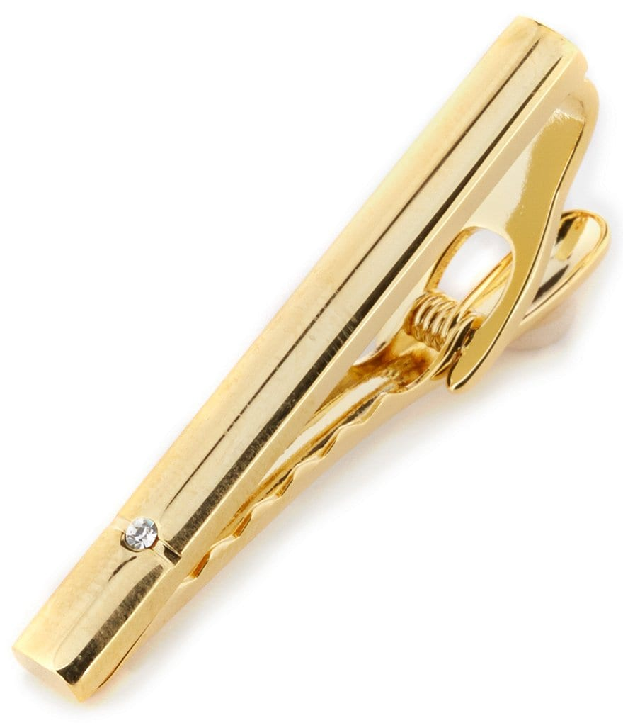 Roundtree & York Gold Cylinder Tie Clip