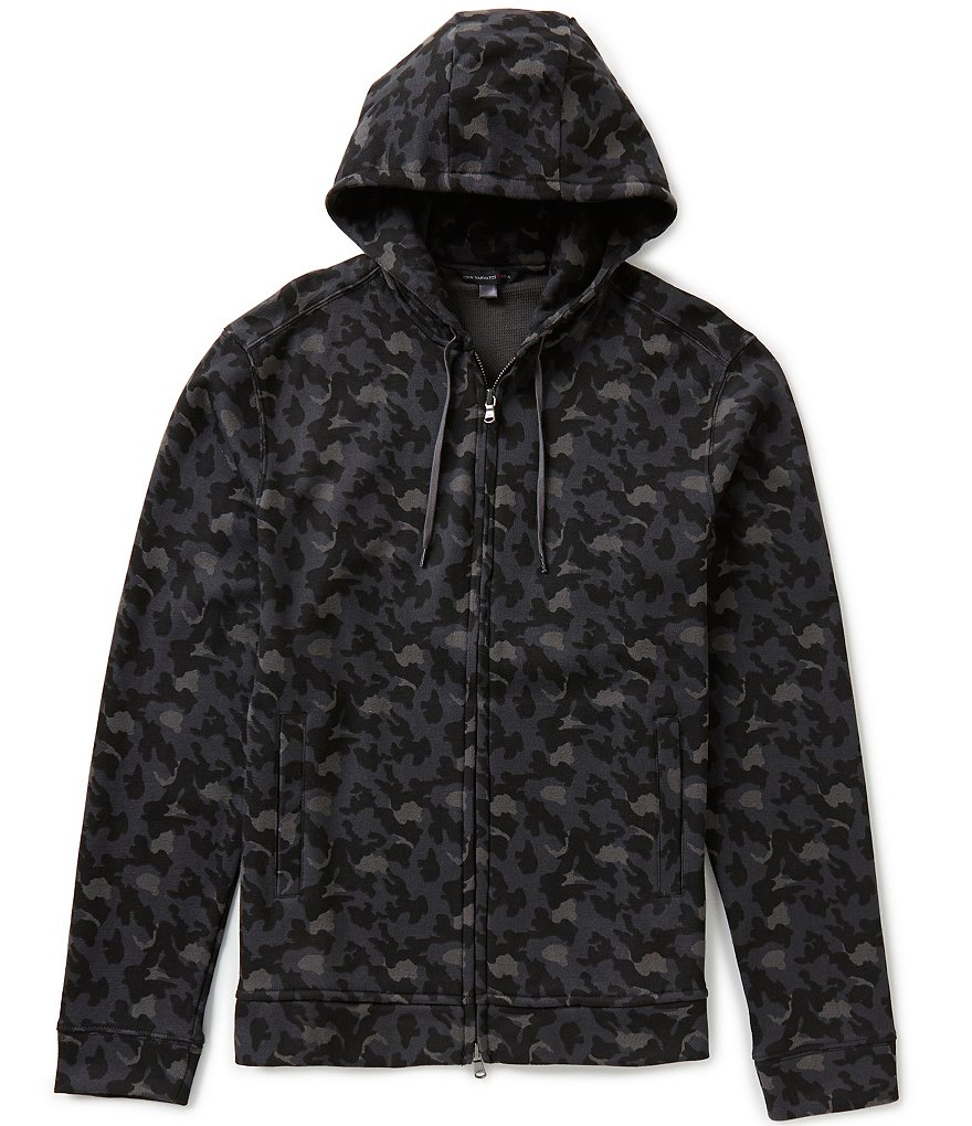 John Varvatos Star USA Full-Zip Camo Printed Hoodie