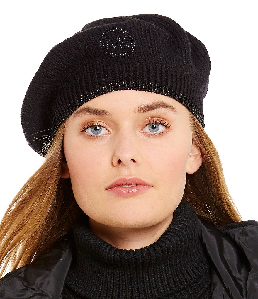 Michael Kors Studded Metallic Beret