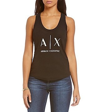 Armani Exchange Scoop Neck Classic Tank Top