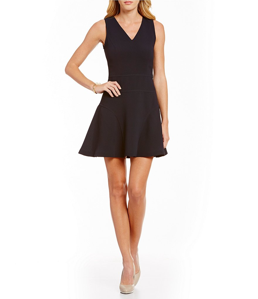 Armani Exchange Pique Fit and Flare Dress
