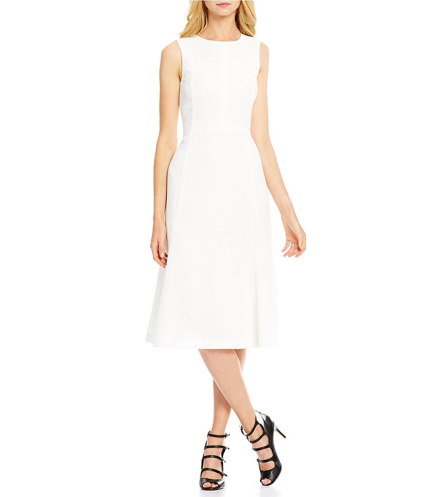 Armani Exchange Pique Midi Fit-and-Flare Dress
