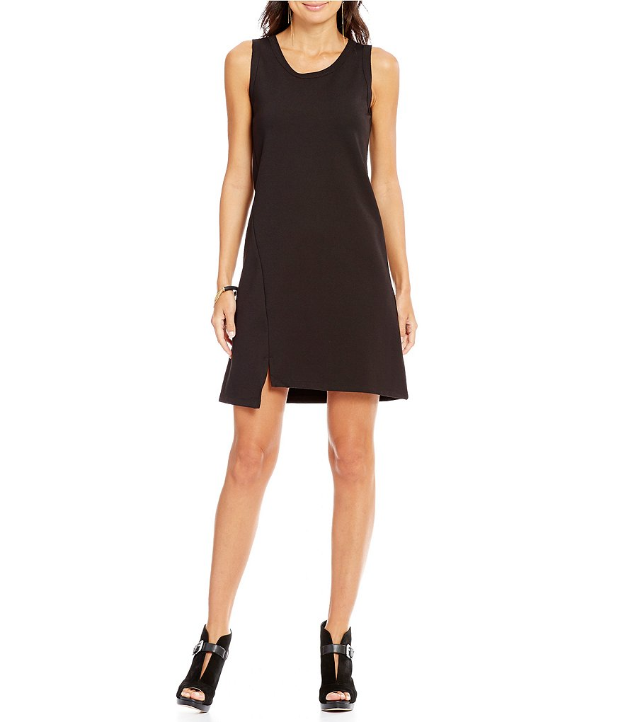 Armani Exchange Ponte Sleeveless Shift Dress