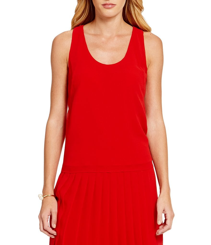 Armani Exchange Scoop Neck Sleeveless Shell