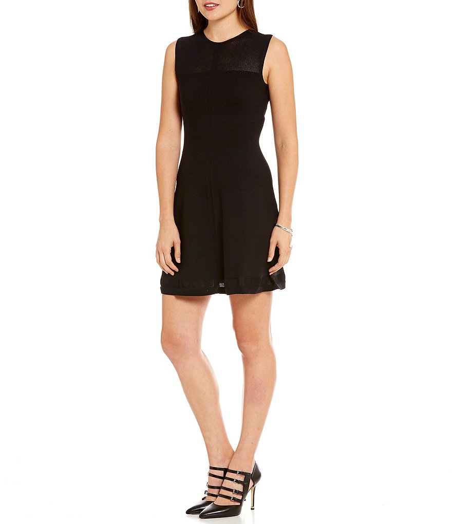 Armani Exchange Stretch Fit-and-Flare Knit Dress