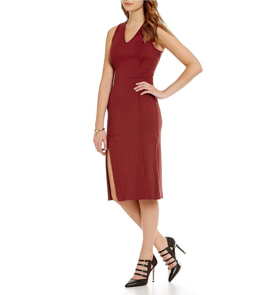 Armani Exchange V-Neck Ponte Dress
