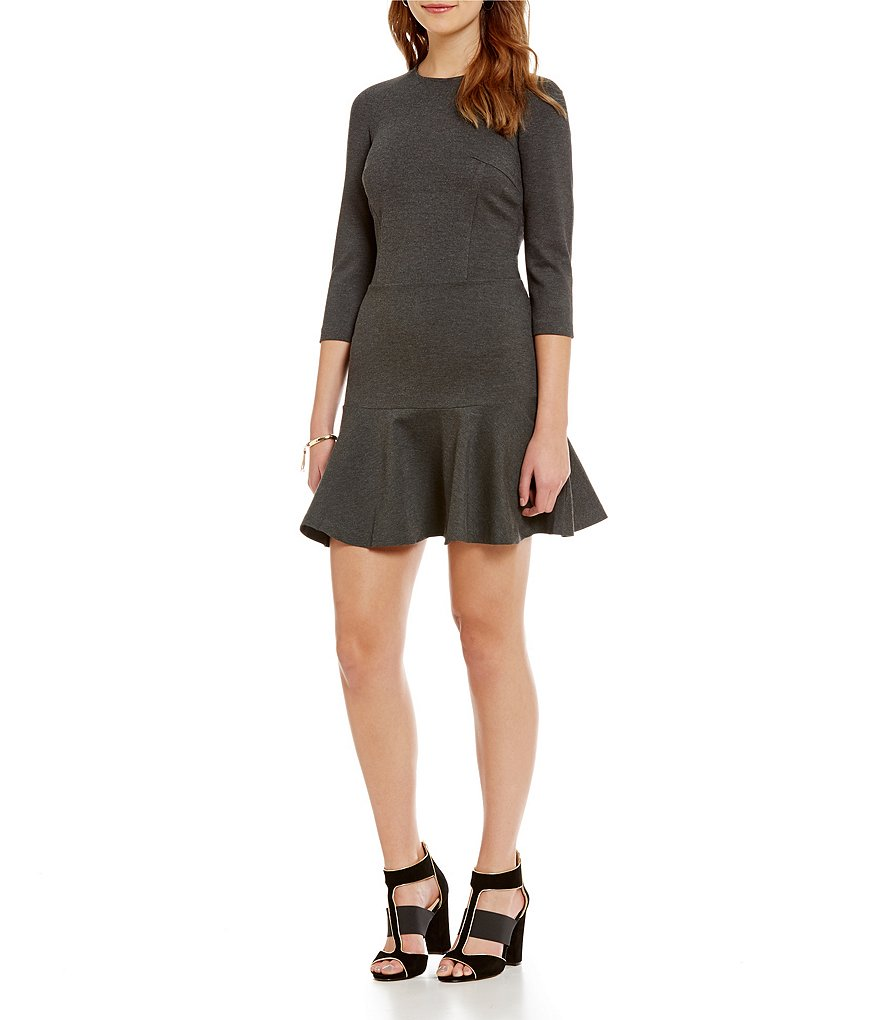 Armani Exchange Ponte Fit-and-Flare Dress