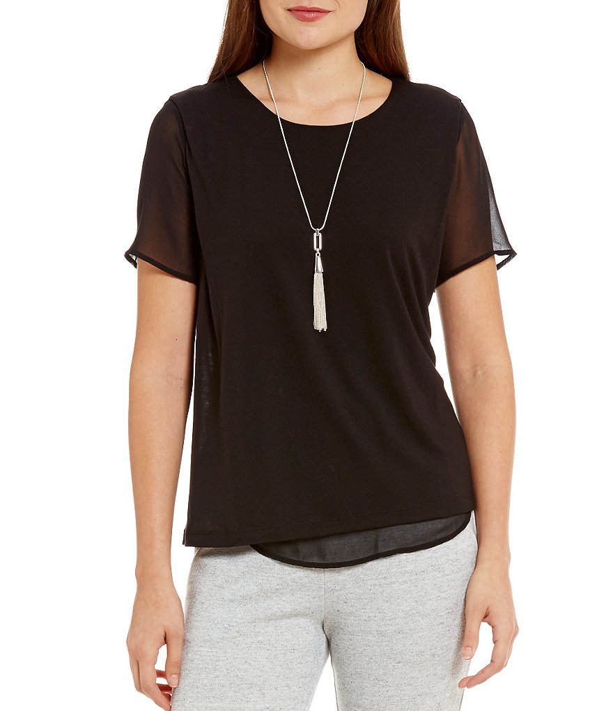 Armani Exchange Sheer Detail Top