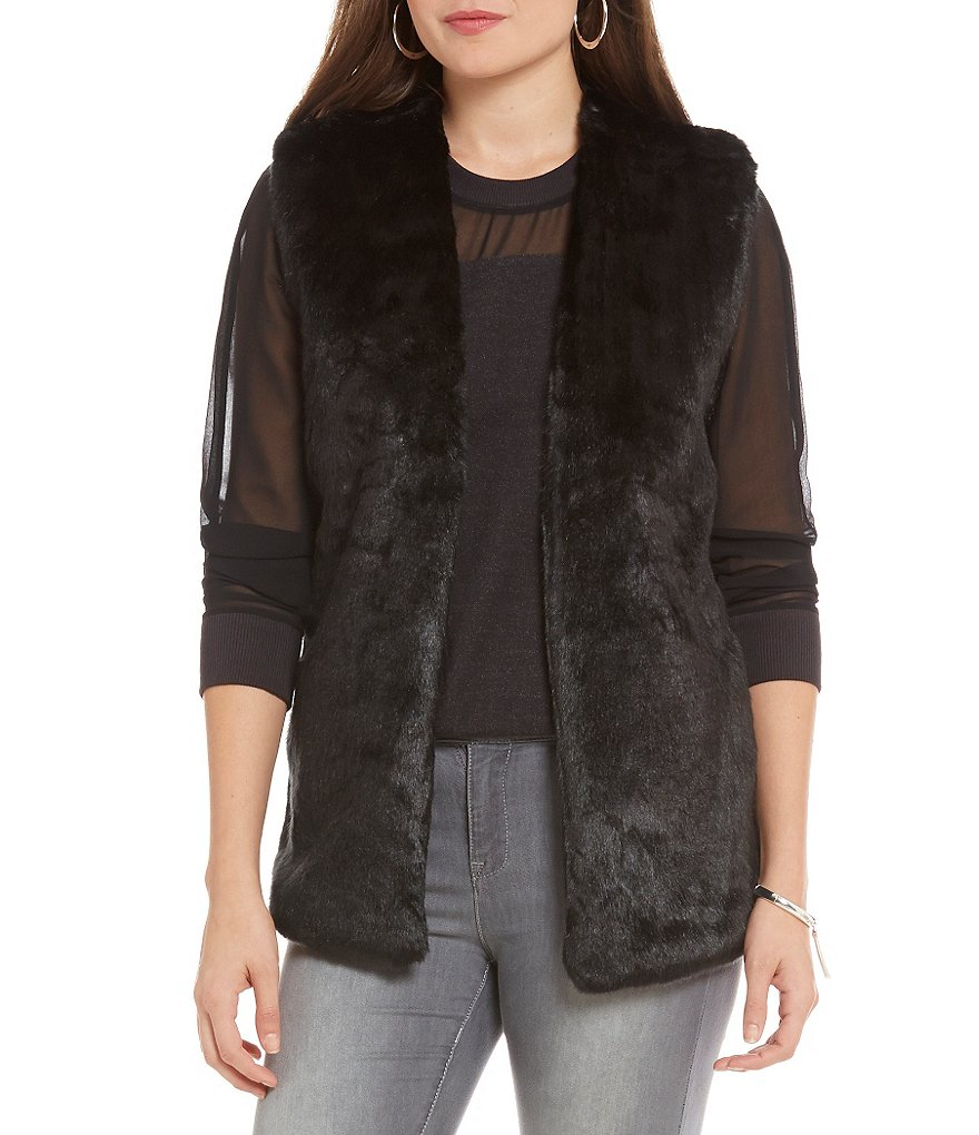Armani Exchange Eco Faux-Fur Vest