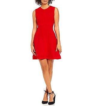 Armani Exchange Stretch Knit Fit-and-Flare Dress