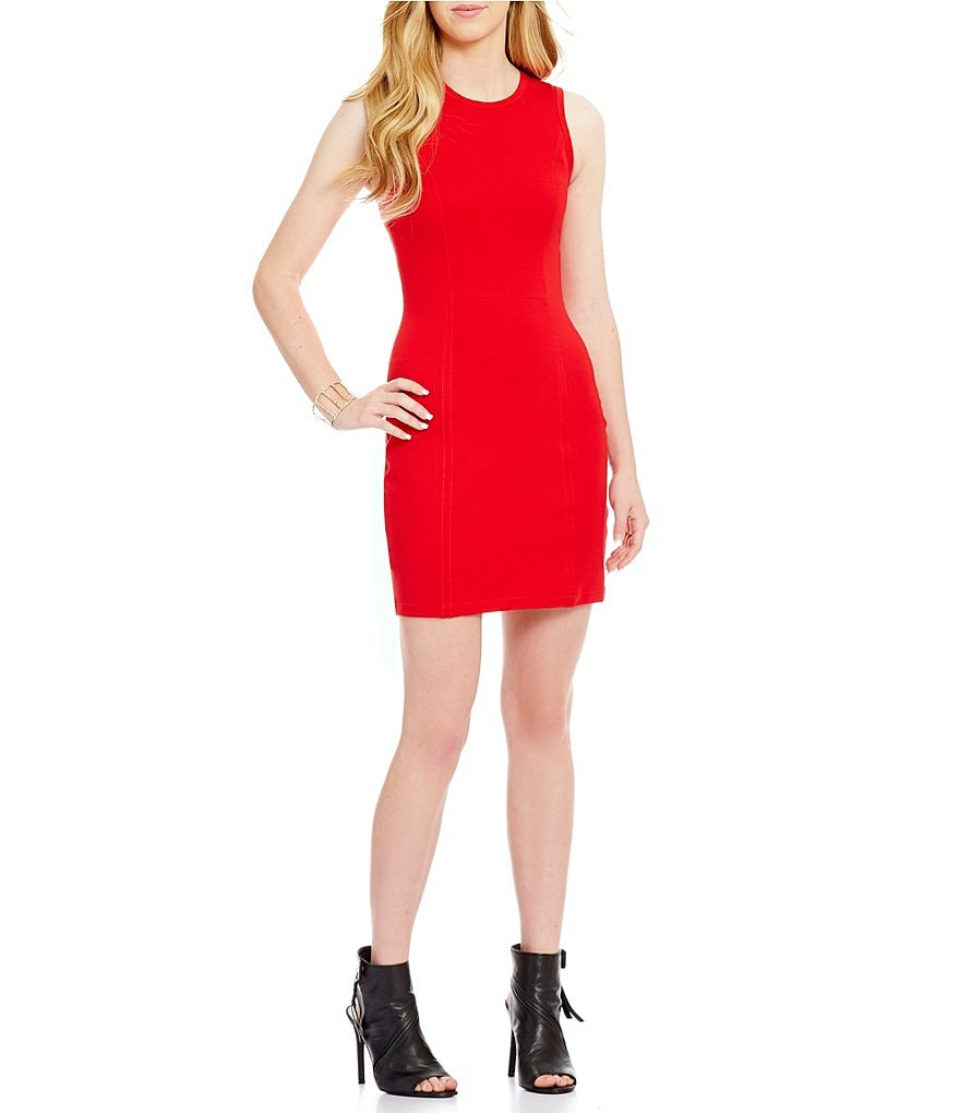 Armani Exchange Ponte Bodycon Dress