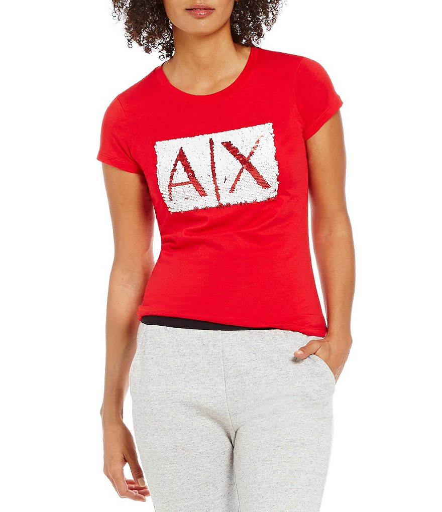 Armani Exchange Sequin Box Logo Tee