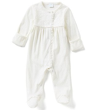Starting Out Baby Girls Newborn-6 Months Pima Cotton Dotted Coverall