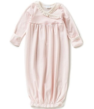 Edgehill Collectioin Baby Girls Newborn-6 Months Ruffle Detailed Coverall