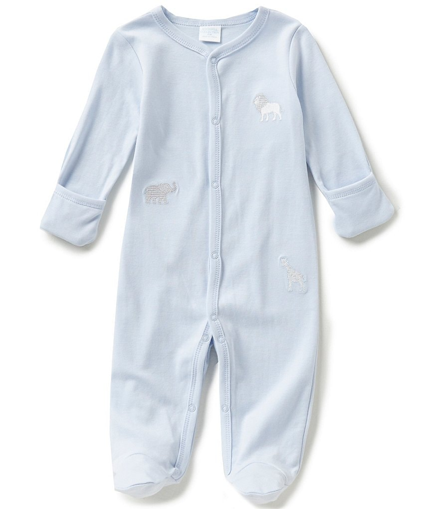 Edgehill Collection Baby Boys Newborn-6 Months Animal Footed Coverall