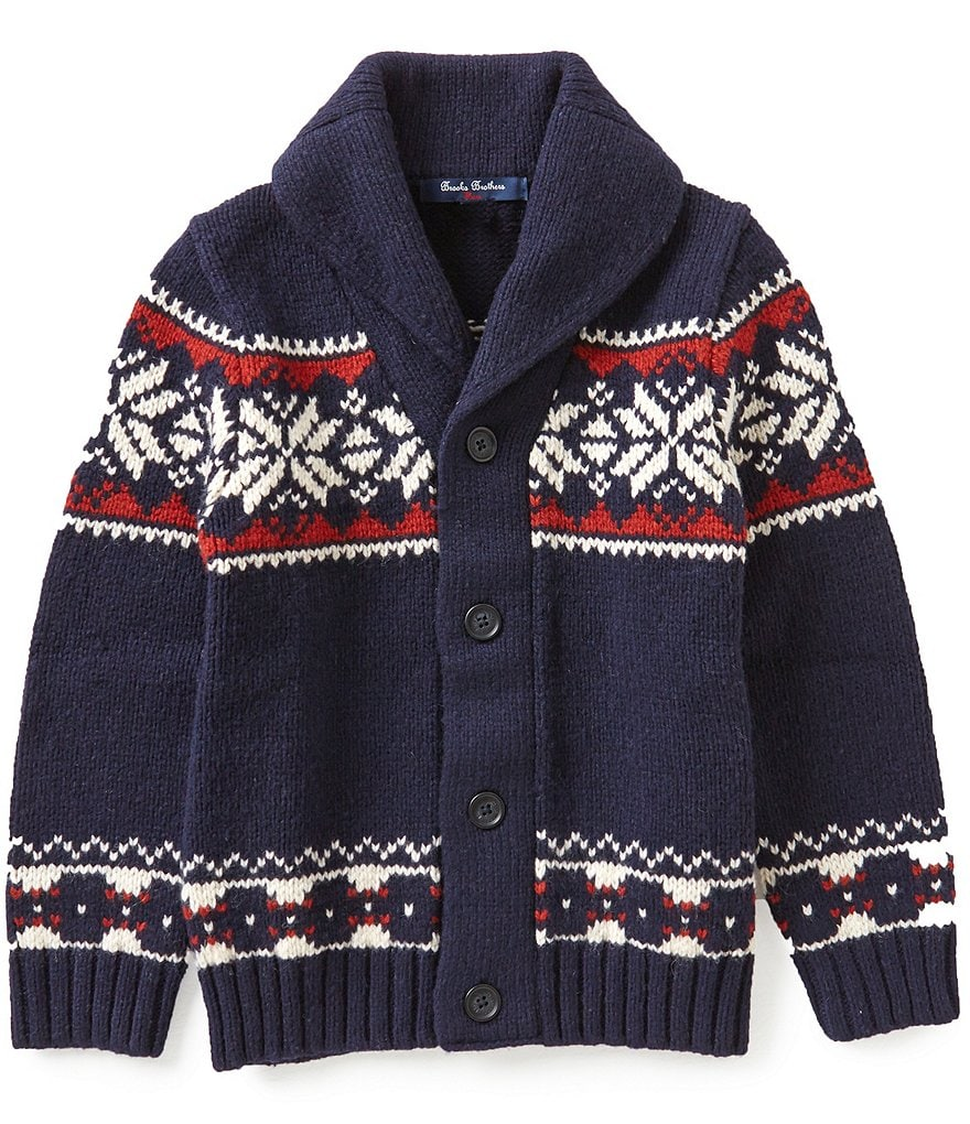 Brooks Brothers Little/Big Boys 4-20 Snowflake Fair Isle Sweater