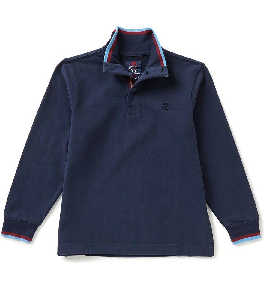 Brooks Brothers Little/Big Boys 4-20 Mock Neck Rugby Shirt