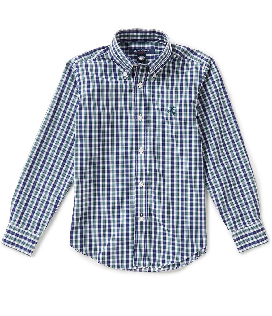 Brooks Brothers Little/Big Boys 4-20 Non-Iron Mini Tartan Shirt