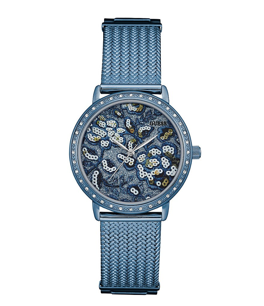 Guess Floral Analog Bracelet Watch