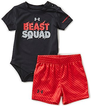 Under Armour Baby Boys Newborn-12 Months Beast Squad Bodysuit & Shorts Set