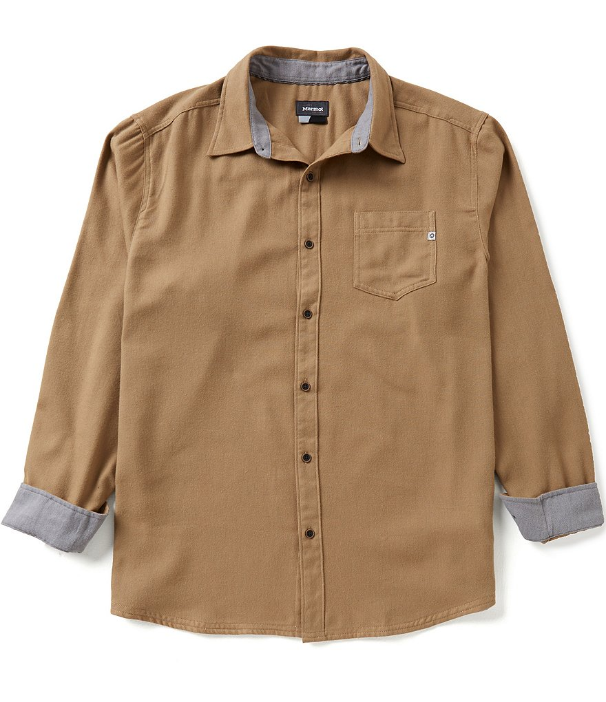 Marmot Hobson Flannel Long-Sleeve Woven Button-Up Shirt