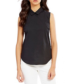 Armani Exchange Sleeveless Collared Slim Fit Shirt