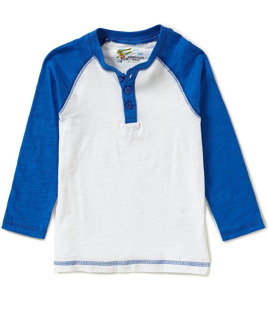 Adventure Wear by Class Club Little Boys 2T-6 Raglan Henley Tee