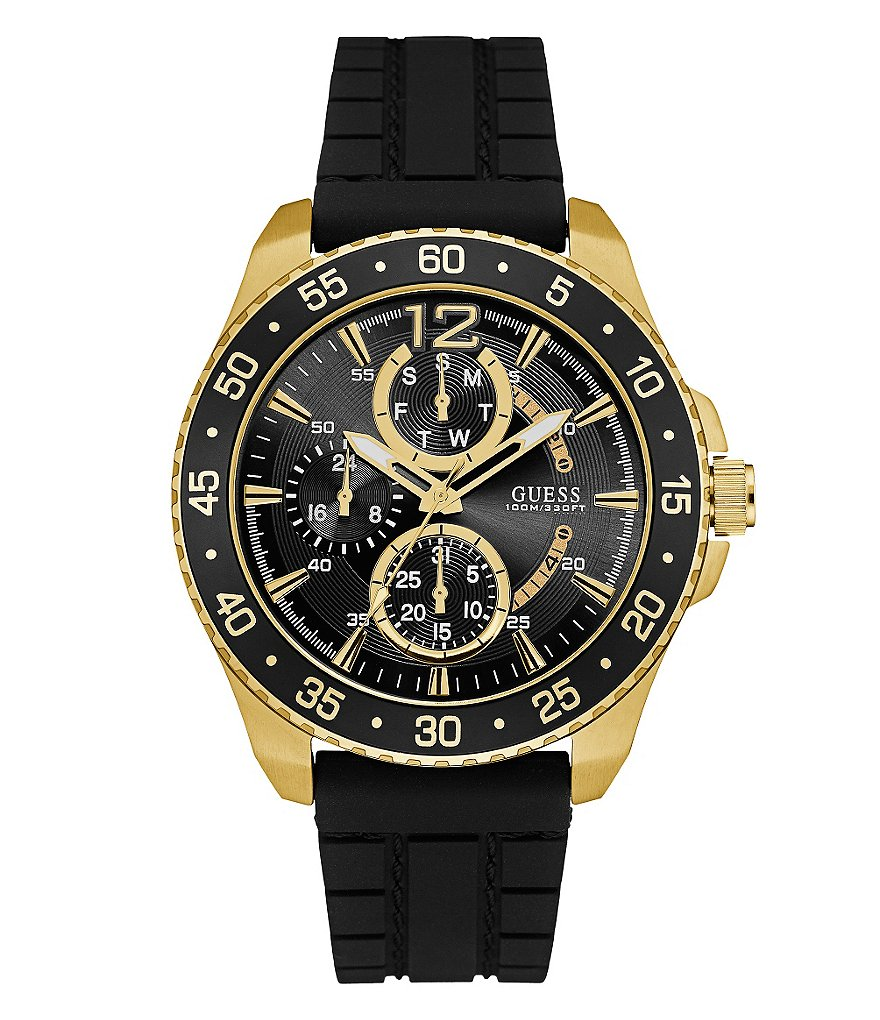 Guess Multifunction Silicone-Strap Watch
