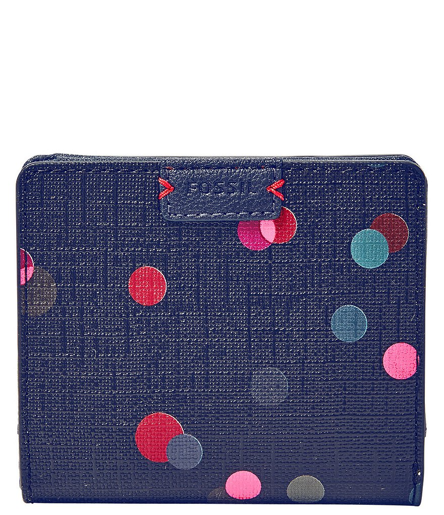 Fossil Emma Dot-Print RFID Mini Wallet