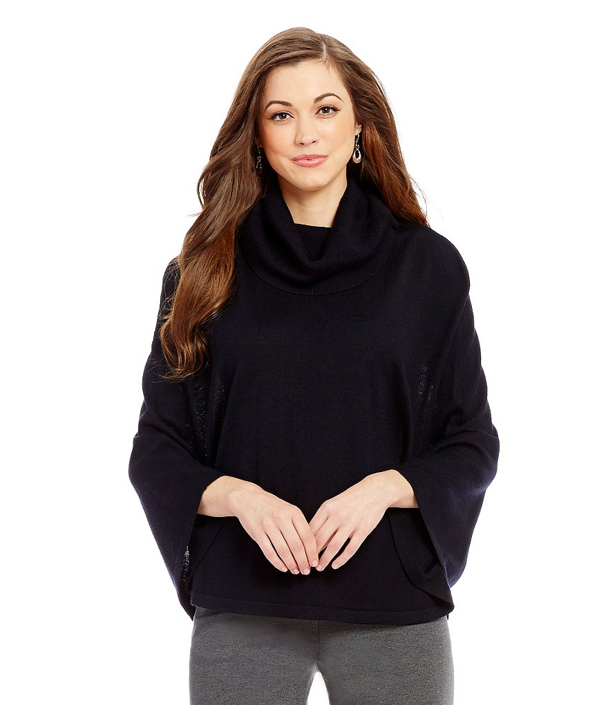 Antonio Melani Lily Cowl Neck 3/4 Sleeve Wool Cape