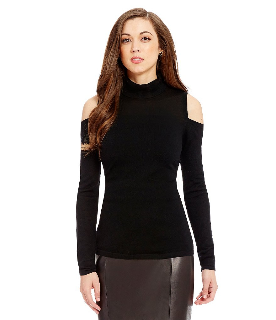 Antonio Melani Natalie Cold-Shoulder Turtleneck Sweater