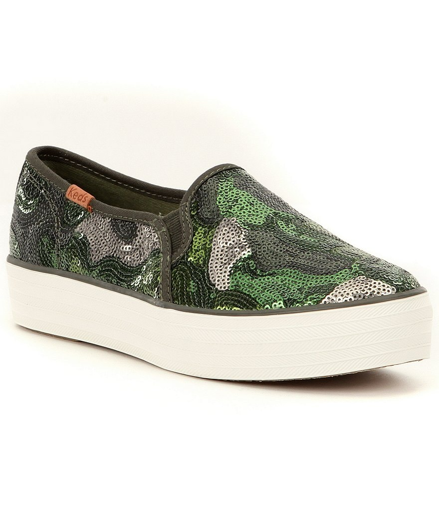 Keds Triple Decker Camo Sequin Sneakers
