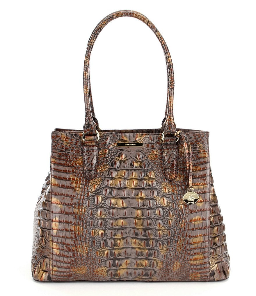 Brahmin Melbourne Collection Joan Crocodile-Embossed Tote