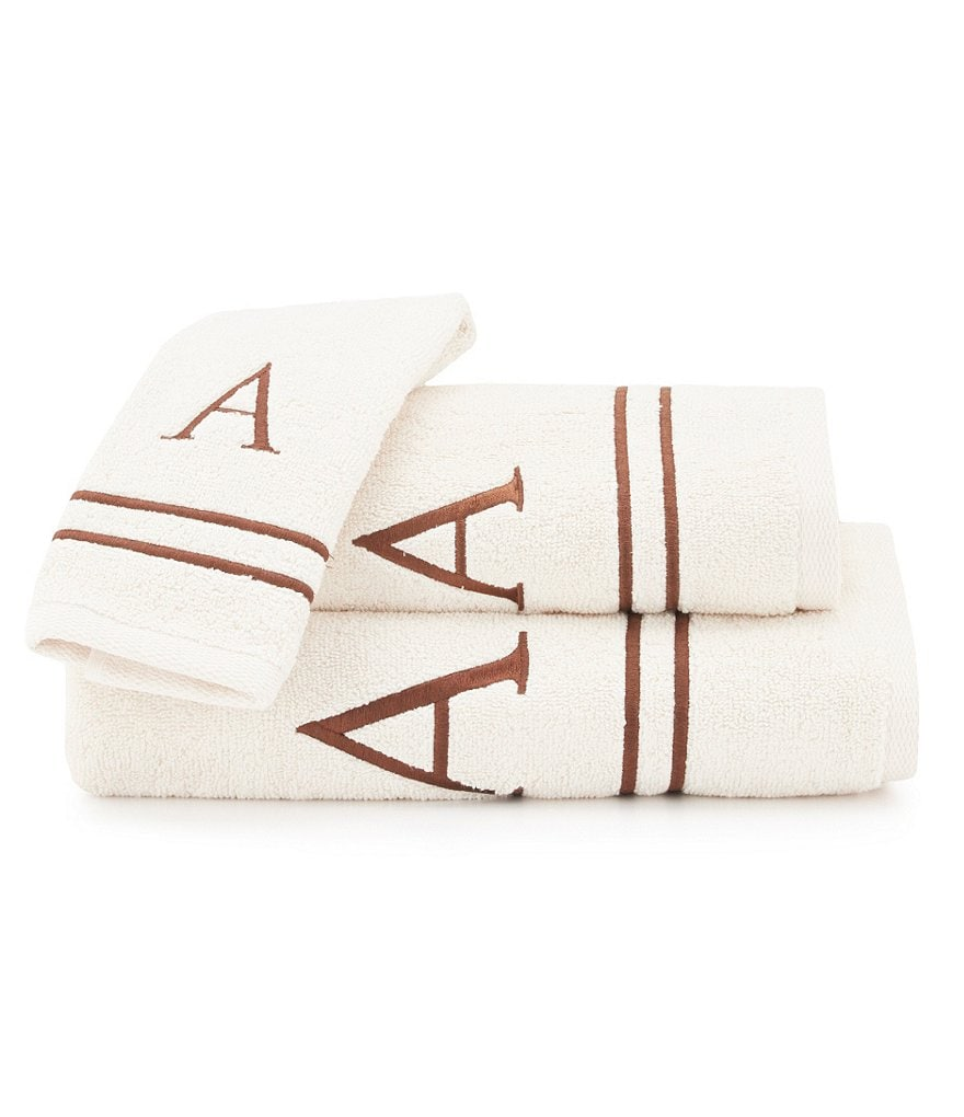 Avanti Linens Initial Cotton Terry Bath Towels