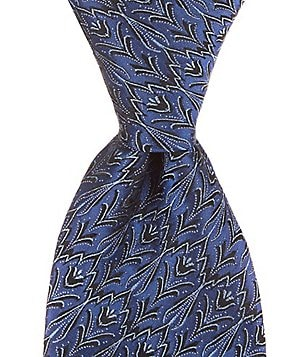 Murano Lily Pop Floral Traditional Silk Tie
