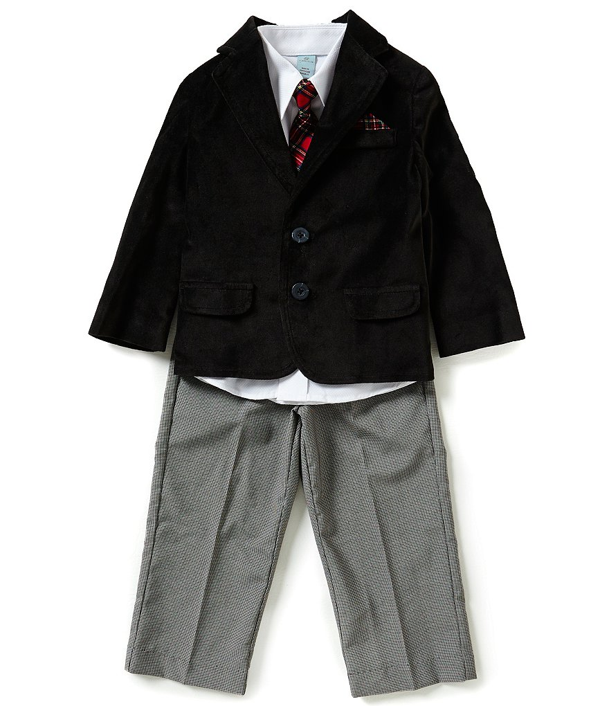 Class Club Little Boys 2T-7 4-Piece Velvet Jacket Suitset