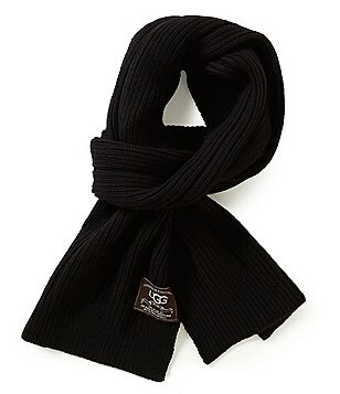 UGG® Ribbed Wool-Blend Scarf