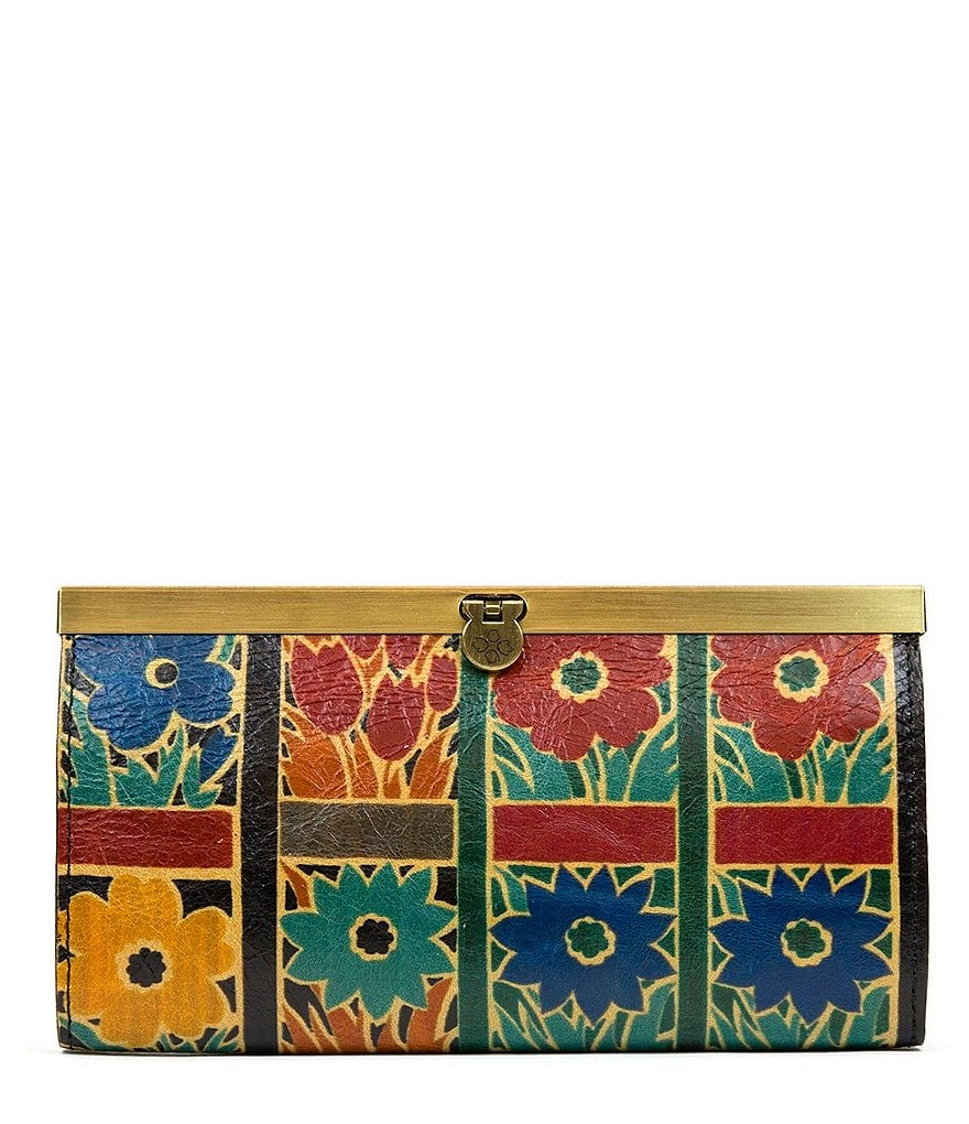 Patricia Nash Floral Squares Collection Cauchy Frame Wallet