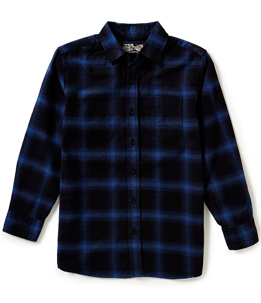 First Wave Big Boys 8-20 Plaid Shirt