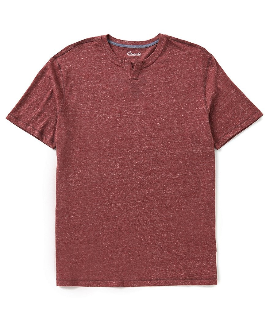 Roundtree & Yorke Casuals Short-Sleeve Notch Collar Tee