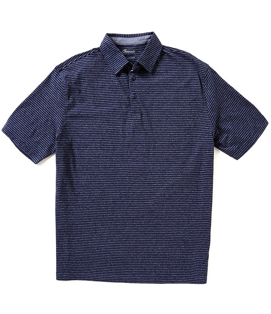 Roundtreee & Yorke Casuals Short-Sleeve Horizontal-Stripe Polo Shirt