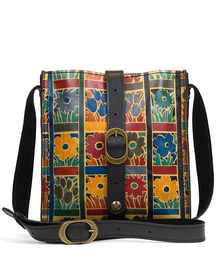 Patricia Nash Floral Squares Collection Venezia Cross-Body Bag