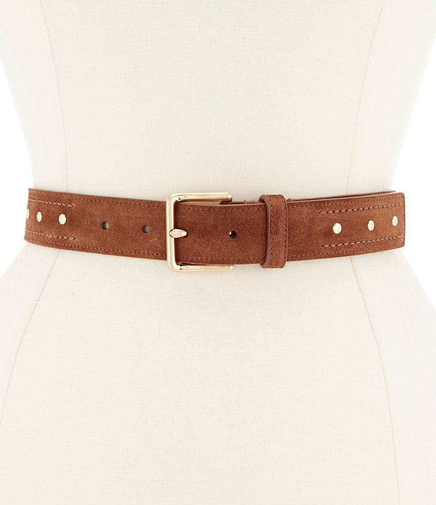 Michael Kors Studded Suede Belt